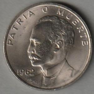 Куба 20 сентаво 1962 - Хосе Марти доставка товаров из Польши и Allegro на русском