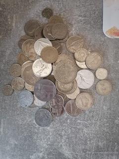 Монеты разные, много марок доставка товаров из Польши и Allegro на русском