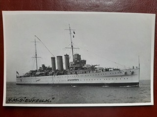 HMS SUFFOLK brytyjski krążownik II WŚ  доставка товаров из Польши и Allegro на русском