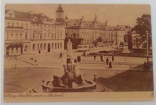 Elbing Balkbrunnen und Postamt. доставка товаров из Польши и Allegro на русском