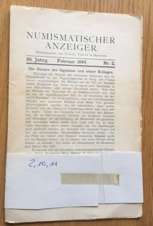 NUMISMATISCHER ANZEIGER trzy numery. доставка товаров из Польши и Allegro на русском