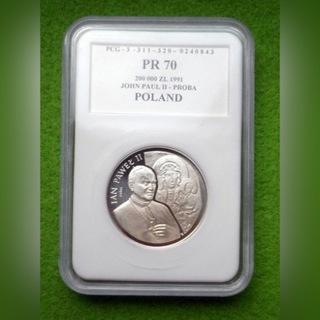 200 000 руб. - ИОАНН ПАВЕЛ II ПОПЫТКА МАДОННА PCG PR70 доставка товаров из Польши и Allegro на русском