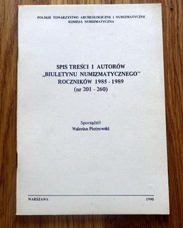 Содержание и авторов Бюллетеня Numi. 1985-1989 доставка товаров из Польши и Allegro на русском