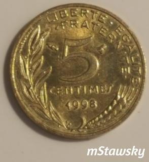 5 сантимов 1998 г. Франция (сантимов)  доставка товаров из Польши и Allegro на русском