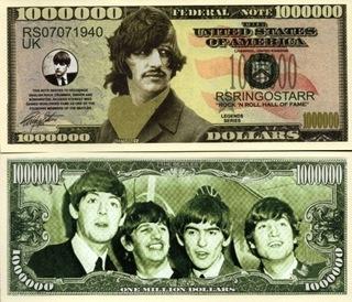 РИНГО СТАРР Банкнота в миллион долларов из Битлз  доставка товаров из Польши и Allegro на русском