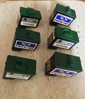 Lexmark X1195 использованные картридж 17 и 16 черные доставка товаров из Польши и Allegro на русском