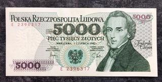 5000 злотых 1982 - E - St. UNC  доставка товаров из Польши и Allegro на русском