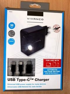 Ładowarka sieciowa VIVANCO USB-C 30W Czarny   доставка товаров из Польши и Allegro на русском