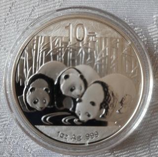 Серебряная монета Панда Ag 999  доставка товаров из Польши и Allegro на русском