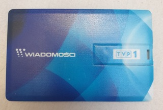 Pendrive 7GB karta Kolekcjonerski z logo TVP1 HiT доставка товаров из Польши и Allegro на русском