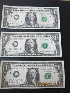 США 1 доллар 2003 (последовательные номера) UNC доставка товаров из Польши и Allegro на русском