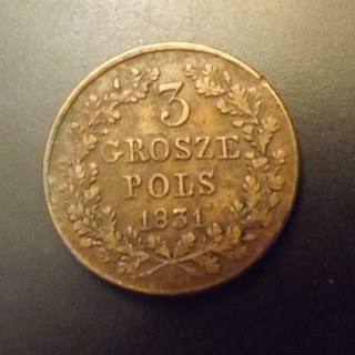 Moneta 3 grosze 1831 bez kropki po POLS доставка товаров из Польши и Allegro на русском