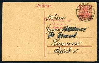 1919 г., Острув-Велькопольское восстание, цензура  доставка товаров из Польши и Allegro на русском