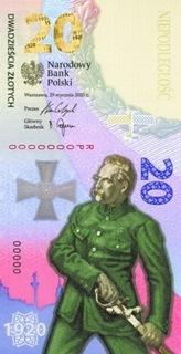 20 zł Banknot Bitwa Warszawska 1920 100. Rocznica доставка товаров из Польши и Allegro на русском