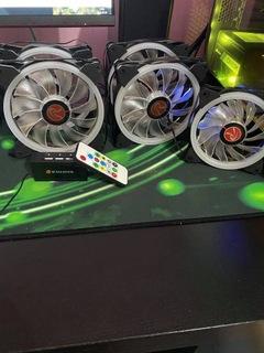 Wentylatory Raijintek Iris Rainbow RGB 5szt доставка товаров из Польши и Allegro на русском