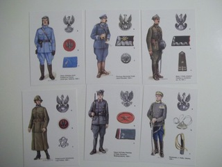 BITWA WARSZAWSKA 1920r. Pocztówki 6 szt. Piłsudski доставка товаров из Польши и Allegro на русском