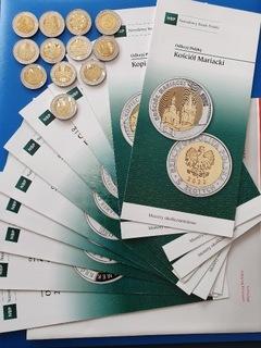 Komplet 13 monet okolicz. 5 zł z folderami . доставка товаров из Польши и Allegro на русском