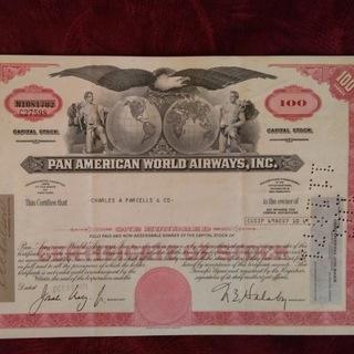 PAN American 100 акций Сертификат с 1971 доставка товаров из Польши и Allegro на русском