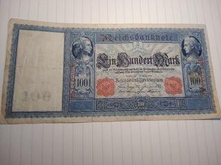 Reichbanknote 100 Mark r.1908 B.1705924  доставка товаров из Польши и Allegro на русском