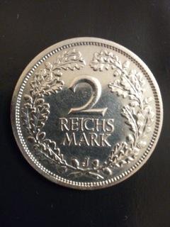Монета 2 марки рейха 1926 г. J серебро оригинал Веймар доставка товаров из Польши и Allegro на русском
