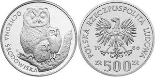 500 złotych - Ochrona Środowiska - Sowa Z Młodymi доставка товаров из Польши и Allegro на русском