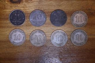 Набор 8x10 Империя пфеннинг 1900-1922  доставка товаров из Польши и Allegro на русском