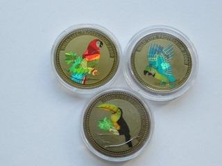 Kongo, zestaw 3 monet 5 franków 2000, Ptaki доставка товаров из Польши и Allegro на русском