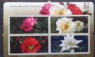 Канада. Блок: Розы. Цена договорная.  доставка товаров из Польши и Allegro на русском