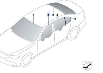 СТЕКЛО БОКОВОЕПРАВАЯ ЛЕВАЯ BMW 7 F01