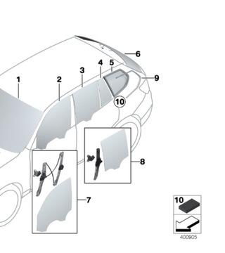 СТЕКЛО ЗАДНЯЯ TYŁ BMW X3 F25