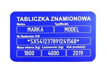 TABLICZKA НОМИНАЛЬНАЯ - ZNAKOWANIE W CENIE HARD 1MM