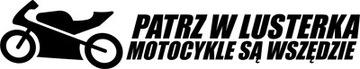 PATRZ W ЗЕРКАЛА ... - НАКЛЕЙКА - 20 X 3,9 CM