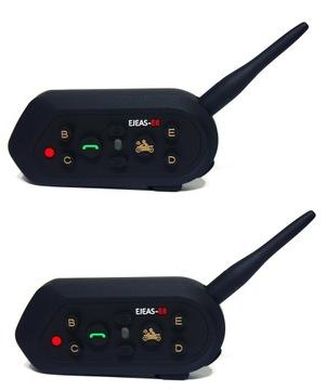 2x Interkom Bluetooth EJEAS E6 1200m 6 OSÓB