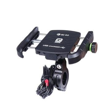 MOTOCYKL ДЕРЖАТЕЛЬ NA TELEFON GPS USB QC3.0 3,5-6,5