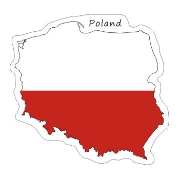 НАКЛЕЙКА POLSKA NA WALIZKĘ MOTO AUTO FLAGA