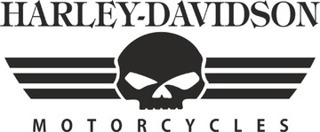 HARLEY DAVIDSON - НАКЛЕЙКА - 20 X 8,3 CM