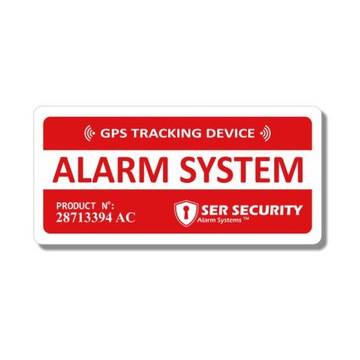 НАКЛЕЙКА OCHRONNA GPS TRACKER ALARM SYSTEM DA16