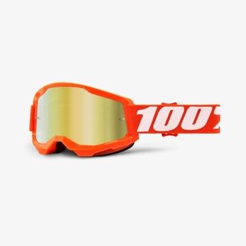 Gogle 100% Strata 2 Orange pomarańczowe KTM lustro