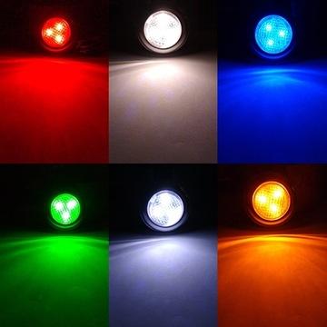 WODOODPORNA LAMPKA LED 3xSMD 12/24V RÓŻNE KOLORY