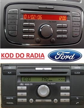 KOD DO RADIA ROZKODOWANIE FORD FOCUS MONDEO FIESTA