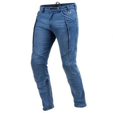 SHIMA GHOST BLUE spodnie jeans motocyklowe GRATISY
