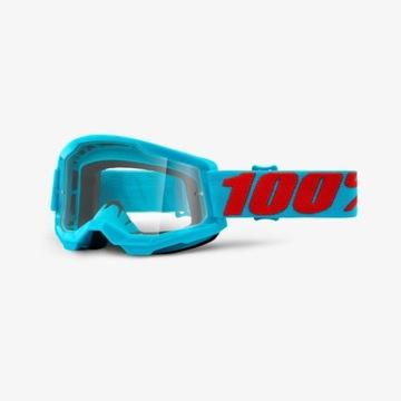 Gogle 100% Strata 2 Summit niebieskie czerwone