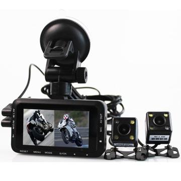 Профиль Wideo REJESTRATOR фотоцикл 2х камера полный высокой четкости 1080p