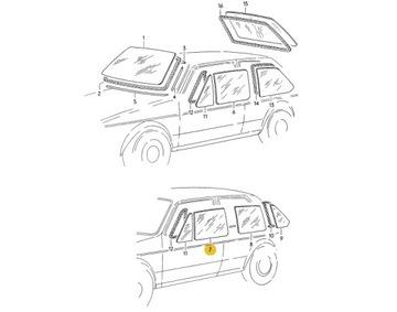 НОВОЕ СТЕКЛО DRZWIOWA ЛЕВЫЙ ПЕРЕД 5D VW GOLF 1 CADDY