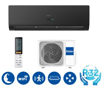 НАСОСТЕПЛАЯ HAIER FLEXIS PLUS MATT BLACK 3,5 KW