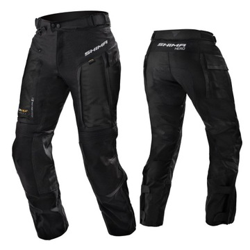 SHIMA HERO PANTS BLACK Spodnie Motocyklowe GRATISY