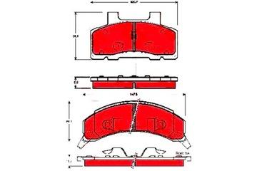 КОЛОДКИ ТОРМОЗНІЕ BUICK CENTURY ELECTRA LESABRE CAD