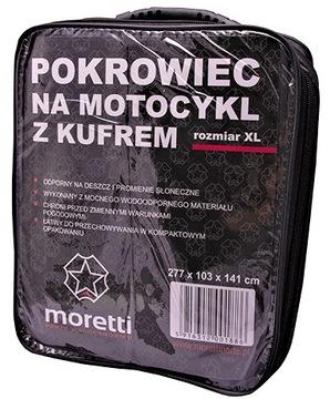 ЧЕХОЛ MOTOCYKLOWY Z KUFREM MORETTI SKUTER R-XL