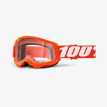 Gogle 100% Strata 2 Orange pomarańczowe KTM