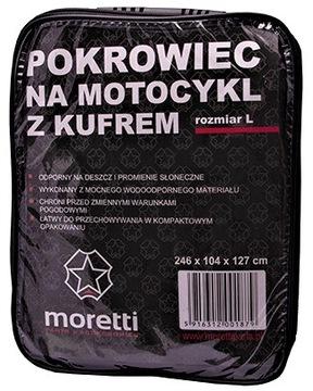 ЧЕХОЛ MOTOCYKLOWY Z KUFREM MORETTI SKUTER RO-L